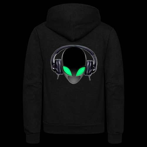 Alien Music Lover DJ (Simplified Fit All Design) - Unisex Fleece Zip Hoodie