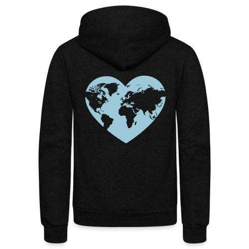Earth Love - Unisex Fleece Zip Hoodie