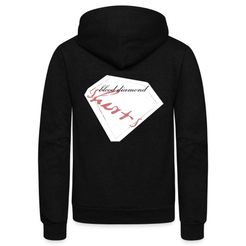 Blood Diamond -white logo - Unisex Fleece Zip Hoodie