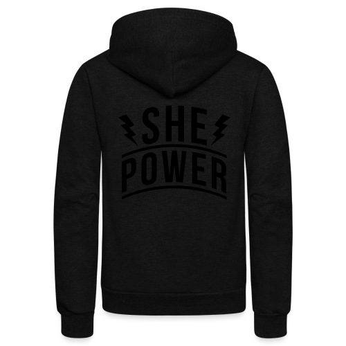 She Power - Unisex Fleece Zip Hoodie