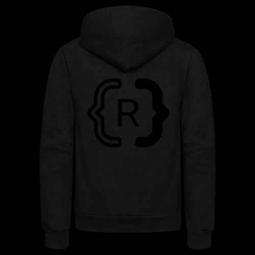 square black reswitched R logo bmx3r - Unisex Fleece Zip Hoodie