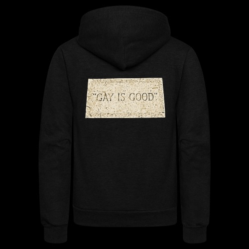 gay is good grave - Unisex Fleece Zip Hoodie