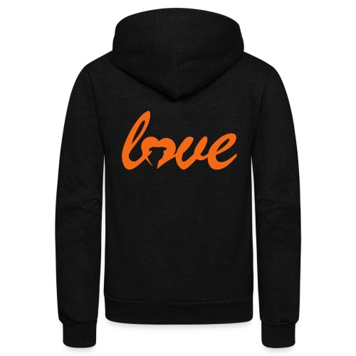 Dog Love - Unisex Fleece Zip Hoodie