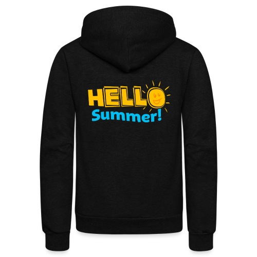 Kreative In Kinder Hello Summer! - Unisex Fleece Zip Hoodie