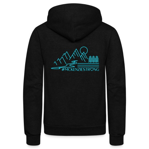 McKenzie Strong TEAL - Unisex Fleece Zip Hoodie