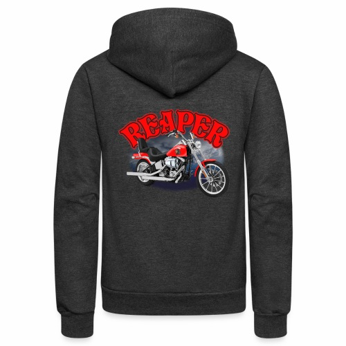 Motorcycle Reaper - Unisex Fleece Zip Hoodie