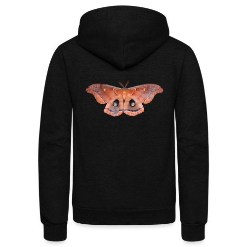 RED LUNA MOTH - Unisex Fleece Zip Hoodie