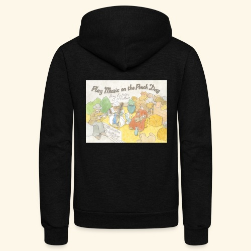 Play Music on the Porch Day Book! - Unisex Fleece Zip Hoodie