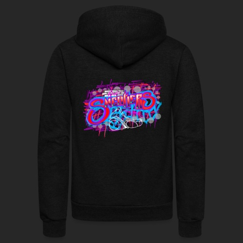 Sneakers Graffiti Design - Unisex Fleece Zip Hoodie