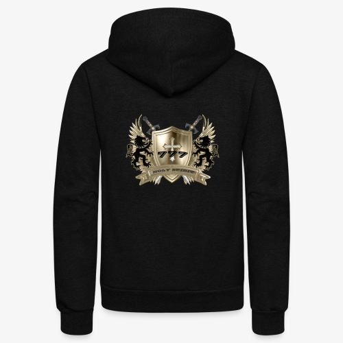 HOLY SPIRIT GOLD SHIELD - Unisex Fleece Zip Hoodie