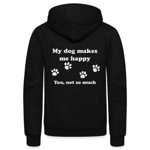 dog_happy - Unisex Fleece Zip Hoodie