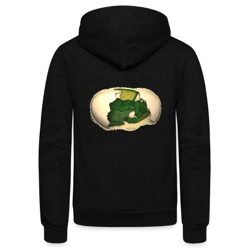 The Emerald Dragon of Nital - Unisex Fleece Zip Hoodie