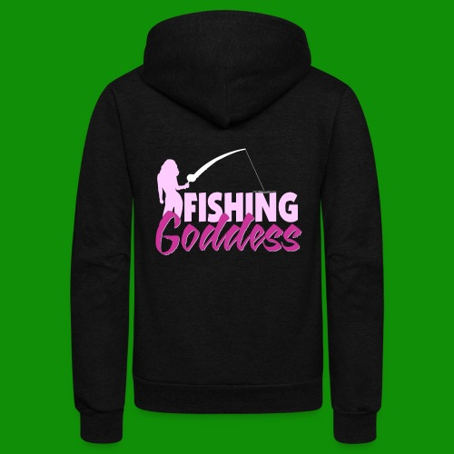 FISHING GODDESS - Unisex Fleece Zip Hoodie