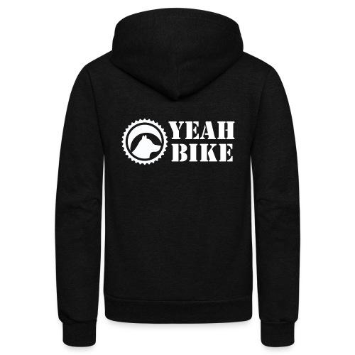 Yeah Bike white - Unisex Fleece Zip Hoodie