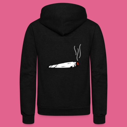 LIT WHITE BLACK GREY AND RED JOINT - Unisex Fleece Zip Hoodie