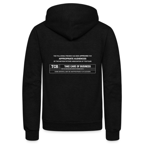 TCB Films Disclamer - Unisex Fleece Zip Hoodie