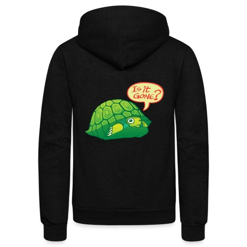 Turtle asking if it's good time to go out of shell - Unisex Fleece Zip Hoodie