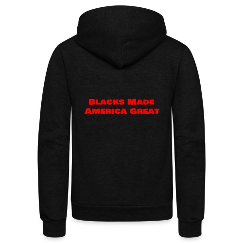 (blacks_made_america1) - Unisex Fleece Zip Hoodie
