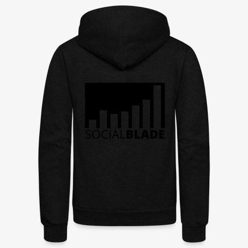 SB Blackout Logo - Unisex Fleece Zip Hoodie