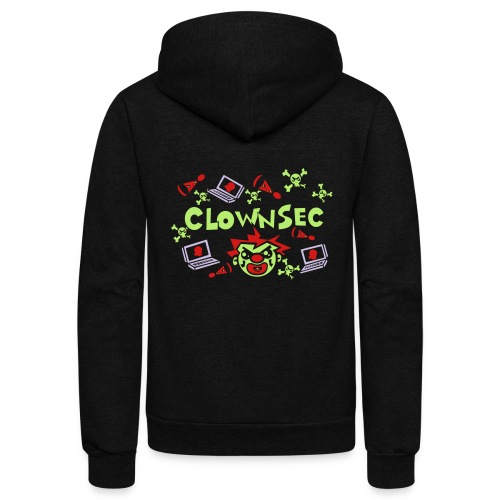 The Clown Hacker - Unisex Fleece Zip Hoodie
