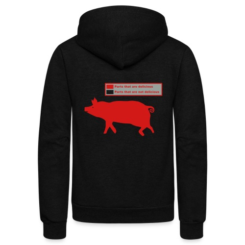 Bacon Pig Pork BBQ - Unisex Fleece Zip Hoodie