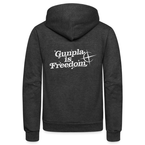 Freedom Men's T-shirt — Banshee Black - Unisex Fleece Zip Hoodie