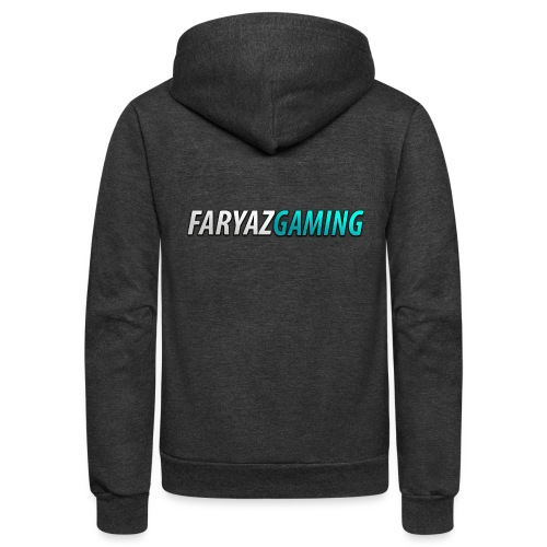 FaryazGaming Theme Text - Unisex Fleece Zip Hoodie