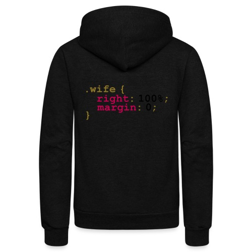 My Wife is Right - Unisex Fleece Zip Hoodie