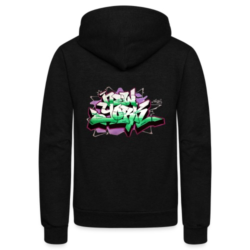 RANGE - Design for New York Graffiti Color Logo - Unisex Fleece Zip Hoodie