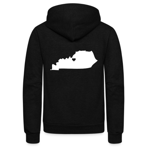 Kentucky Silhouette Heart - Unisex Fleece Zip Hoodie