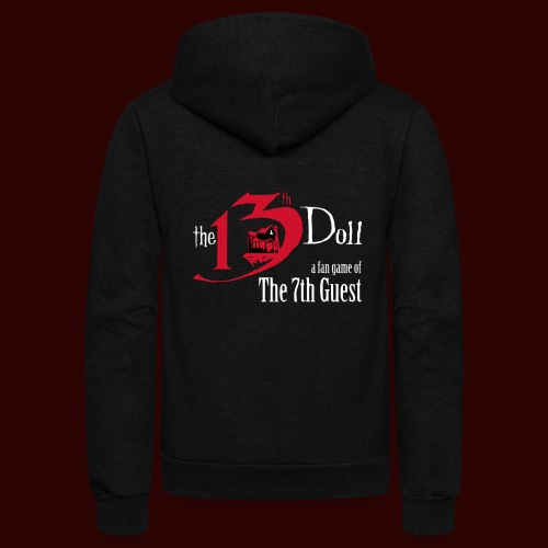 The 13th Doll Logo - Unisex Fleece Zip Hoodie
