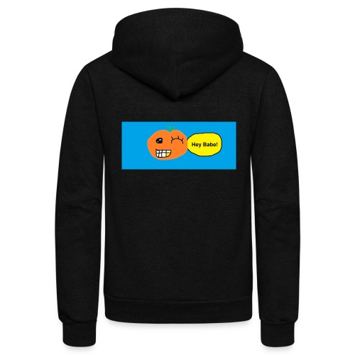 peachy smile - Unisex Fleece Zip Hoodie