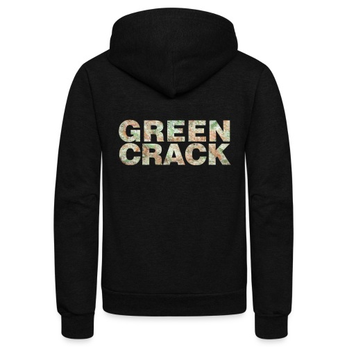GREEN CRACK.png - Unisex Fleece Zip Hoodie