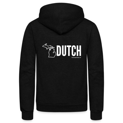 Michigan Dutch (white) - Unisex Fleece Zip Hoodie