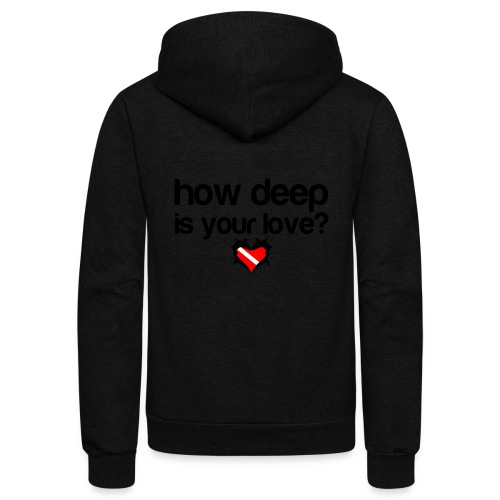 How Deep is your Love - Unisex Fleece Zip Hoodie