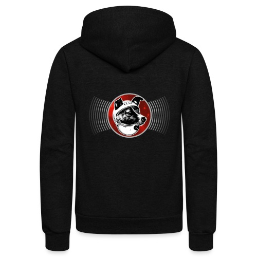 Laika The Space Dog - Unisex Fleece Zip Hoodie