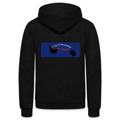 Cringy+Reversified YouTube Logo - Unisex Fleece Zip Hoodie