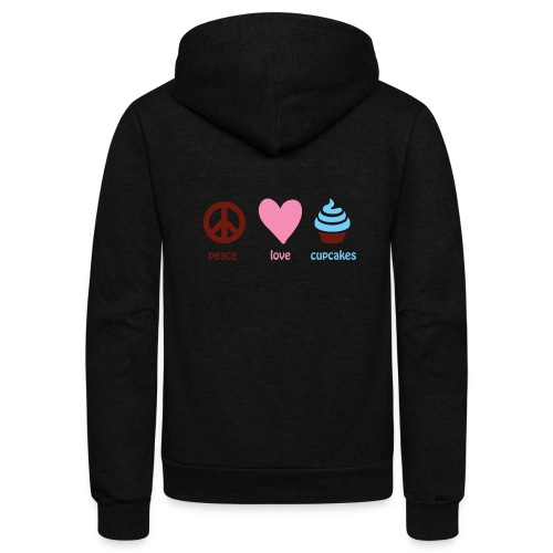 peacelovecupcakes pixel - Unisex Fleece Zip Hoodie