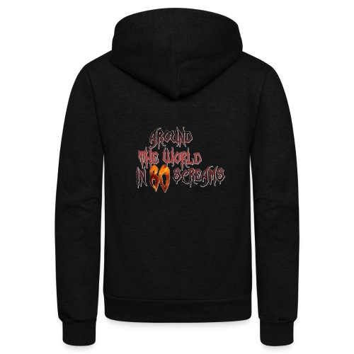 Around The World in 80 Screams - Unisex Fleece Zip Hoodie
