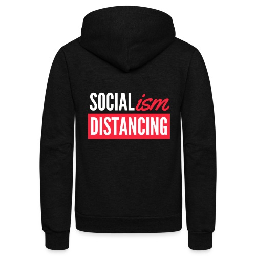 SOCIALism DISTANCING - Unisex Fleece Zip Hoodie