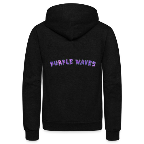 Purple Waves - Unisex Fleece Zip Hoodie