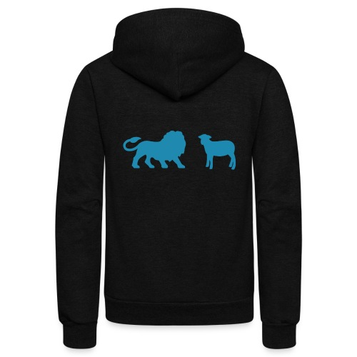 Lion and the Lamb - Unisex Fleece Zip Hoodie