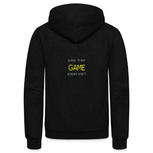 Are_you_game_enough - Unisex Fleece Zip Hoodie