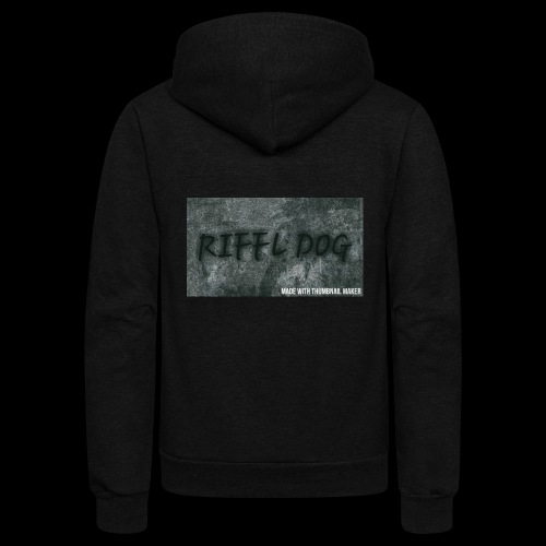 RIFFLE DOG MOUSE PADS - Unisex Fleece Zip Hoodie