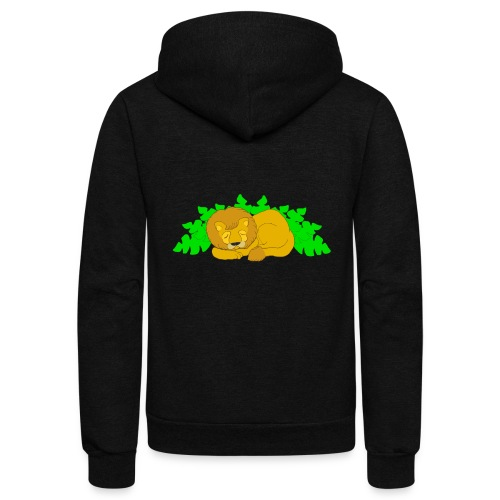 Sleeping Lion - Unisex Fleece Zip Hoodie