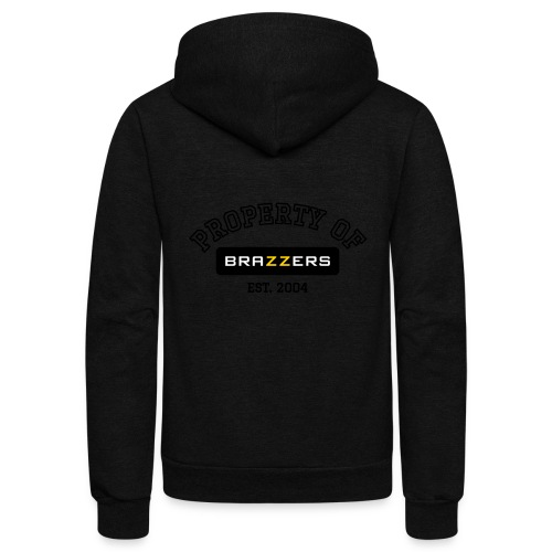 Property of Brazzers logo - Unisex Fleece Zip Hoodie