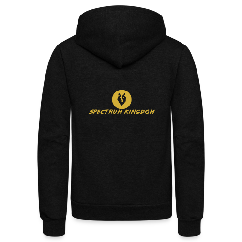 Spectrum Kingdom Gold Logo - Unisex Fleece Zip Hoodie
