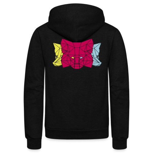 MetaMask Multi Colored Triple Head - Unisex Fleece Zip Hoodie