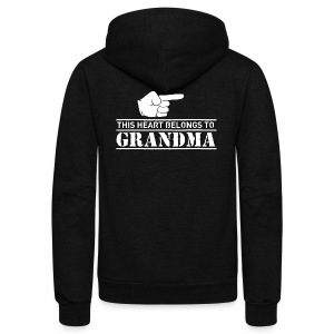 This Heart belongs to Grandma - Unisex Fleece Zip Hoodie