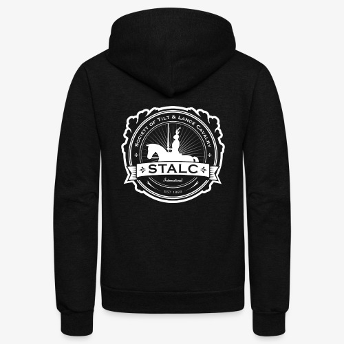 STALC Logo White only - Unisex Fleece Zip Hoodie